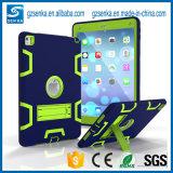 Caja híbrida de la tablilla del silicio para los cabritos con el soporte para el mini caso 4 del iPad