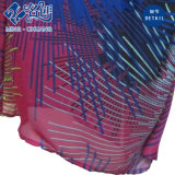 Mehrfarbenc$kurz-hülse kleiden seidige Link-Hand-Diagonale Form-Damen lang an