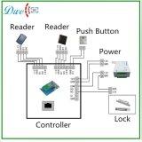 Lettore di schede esterno di controllo di accesso del portello di Mf 13.56MHz Weigand 26 RFID con due indicatori luminosi del LED
