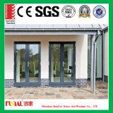 Portello scorrevole di vetro di alluminio lustrato effetto standard di uragano As2047