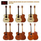Instrumentos musicais da parte alta por atacado toda a guitarra acústica da madeira compensada