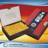 Envases de papel rígido de lujo personalizado Regalo/comida/vino cuadro (xc hba-001).
