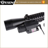 3-9X40e roter grüner PUNKT Airsoft Riflescope mit roter Taschenlampe des Laser-M6 Anblick-LED