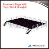 Palco de concertos ao ar livre portátil com alumínio de escada