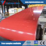 Plaque / plaque en aluminium revêtue de couleur PVDF / PE pour la décoration