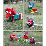 14885507-4 in 1 Dier veranderde Blokken van het Stuk speelgoed DIY van de Uitrusting van het Blok de Onderwijs Creatieve Geplaatst 37PCS (de Schapen van de Muis van de Slak van de Octopus)