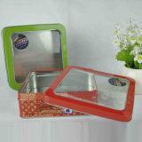 Zinn-Kasten mit freiem Fenster für Nahrung und Geschenk