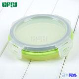 De ronde Kleine Container van de Opslag van het Voedsel van het Silicone met het Deksel van pp