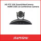 HD PTZ 10Xのズームレンズのビデオ・カメラHDMI USB 3.0の会議のカメラ
