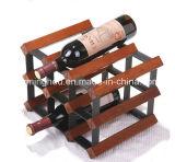 Bouteille à vin en bois bouteille de 9 bouteilles Porte-vin en bois massif
