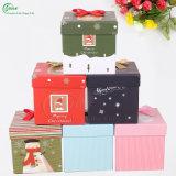 Новое изготовленный на заказ цветастое печатание для коробки подарка рождества упаковки Apple (KG-PX079)