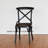 Het beklede Zwarte Dwars AchterMetaal van de Stoel van het Restaurant (SP-MC080)