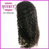100% 자연적인 사람의 모발 Virgin 페루 머리 가득 차있는 레이스 가발 깊은 파 (DWW-038D)