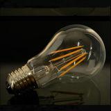 A60 bulbo ahorro de energía del filamento de la luz 4W 6W 8W B22 E27 LED