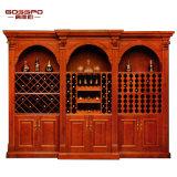 Mobiliário doméstico Armário de vinhos de madeira maciça Rack de madeira para vinho (GSP9-042)