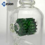 Bubbler De Água De Vidro Com Engrenagem Inline Verde (AY 017)