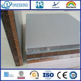Material de construcción de aluminio del panel del panal del final del molino