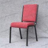 Bequemes rotes Gewebe des Deckel-Yc-G71-1, das Metallkirche-Stühle stapelt
