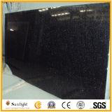 磨かれた黒いギャラクシー花こう岩の舗装するか、または台所カウンタートップの平板