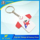 Firmenzeichen-Zeichen-Gummiplastik-Belüftung-Schlüsselring-Marke Wholesalecustom Company mit niedrigem Preis (XF-KC-P08)