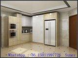 Woodgrainのメラミン食器棚(4 ' x 8 「)