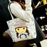 方法漫画の印刷の女性のハンドバッグの女性キャンバスの戦闘状況表示板のショッピング・バッグ