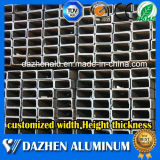 Perfil de aluminio de la protuberancia de la venta caliente para la aleación cuadrada del tubo 6063 del tubo del rectángulo