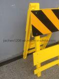 道路工事のための黄色い折るトラフィックのプラスチックバリケード