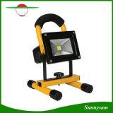 Del Portable luz solar del trabajo de la inundación de Rechargeble LED de la MAZORCA del brillo 10W ultra, lámpara que acampa recargable sin cuerda resistente de agua