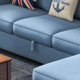Sofá americano de la tela del estilo de país para los muebles M3002 de la sala de estar