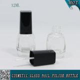 Glasflasche mit Nagel Poilsh Schutzkappe und Pinsel 12ml leeren Nagellack-Flasche