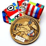 Malasia personalizado Goggle forma 38km de la medalla de la carrera de ciclo de acabado