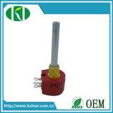 Un seul tour le potentiomètre bobinées 1W résistance variable wx118