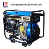 Único gerador Diesel portátil da soldadura do cilindro 2.2kVA