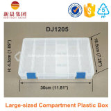 Grande scatola di plastica libera dello scompartimento