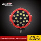 """7 """" 51W Waterproof a luz de condução Offroad do diodo emissor de luz para ATV"""