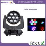 단계 (BR-740P)를 위한 소형 7*40W LED 세척 이동하는 맨 위 빛