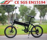 Bicicleta eléctrica plegable de bolsillo con 36V 10.4ah li-ion
