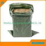緑の50GSMによってリサイクルされる砂のFertilierのシードのガーベージPPによって編まれる袋