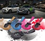 Marque Nouveau Matériau en cuir Key Protected Black Mini Ray Style Sacoche clé voiture pour Mini Cooper F56 F55 seulement (1 PCS / set)