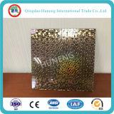 Vidro decorativo de 5mm com design diferente na superfície