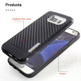 Durable Fibra de carbono para teléfono móvil Samsung Galaxy S7