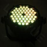 La iluminación exterior 54X3W RGB 3 en 1 LED PAR
