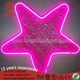 luz de néon do pendente da decoração do motivo do Natal da forma da estrela do diodo emissor de luz de 12V 30cm para o uso interno e ao ar livre