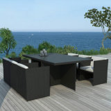 Garten-Patio-Möbel-Gaststätte-Stühle und Tische stellten das Rattan ein, das Stuhl-Tisch-Set speist