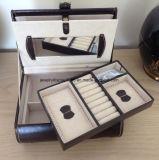 Красивейшая коробка Jewellery типа случая тщеты Tchibo кожаный