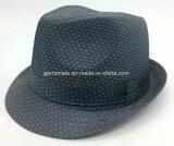 Fedora-Hut mit PUNKT gedrucktem Gewebe auf Shell (YGF042)
