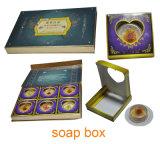 Caisse d'emballage de savon pliable OEM Cmyk / Boîte à papier à savon 8 pièces