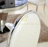 편리한 가죽 시트 케이스를 가진 현대 유행 간단한 백색 식사 의자