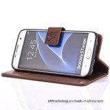 Portefeuille en cuir gaufré cas pour Samsung S8/S8plus/S7/Edge/S7 la note 5/S6/S6 bord etc